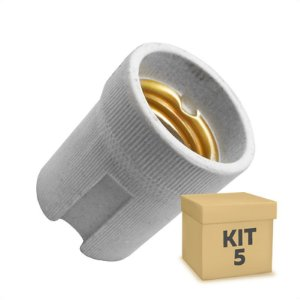 Kit 5 Adaptador Soquete LED E-27