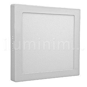 Luminária Plafon 18w LED Sobrepor Branco Neutro