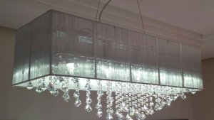 Lustre Pendente LED Cristal 50x20
