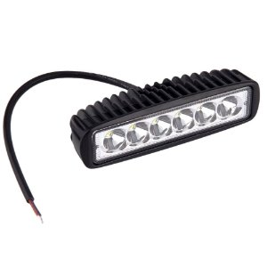 Farol de Milha LED Retangular 18W Auxiliar Automotivo