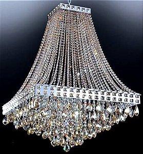 Lustre Pendente LED Cristal 40x40