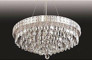 Lustre Pendente LED Cristal 40x30