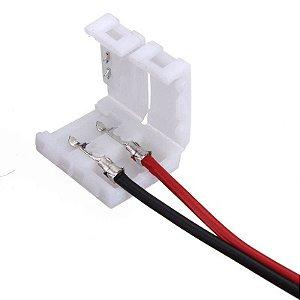 Conector para Fita LED 3528 8mm de Alta Capacidade - 2 Vias 1 Terminal