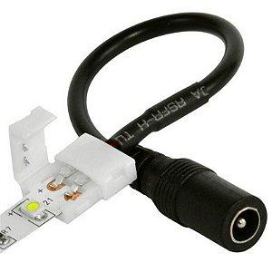 Conector para Fita LED 3528 8mm - 2 Vias com Conector P4 Fêmea