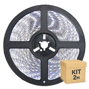Fita LED Branco Frio 5050 2 metros IP65 com Fonte
