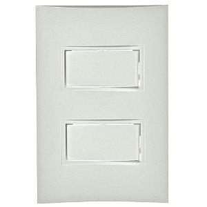 Conjunto 2 Interruptores Simples de Embutir 10A Branco