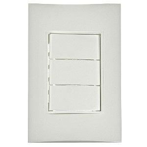Conjunto 3 Interruptores Simples de Embutir 10A Branco