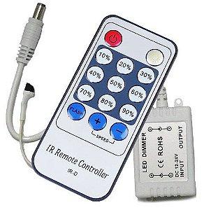 Dimmer Controlador com Controle Remoto 12v para Fita Led