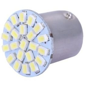 Lâmpada LED Automotiva BA15S 22 Leds 1 Polo 5W 12V Azul