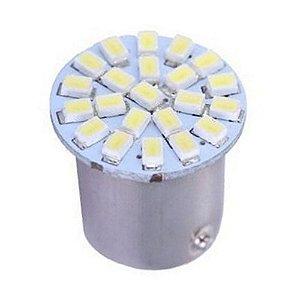Lâmpada LED Automotiva BAY15D 22 Leds 2 Polos 5W 12V Azul