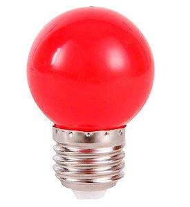 Lâmpada LED Bolinha 1w Vermelha | Inmetro