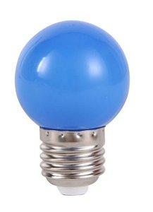 Lâmpada LED Bolinha 1w Azul | Inmetro
