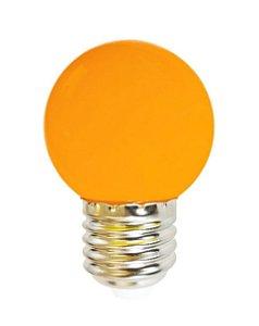 Lâmpada LED Bolinha 1w Laranja | Inmetro