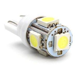 Lâmpada LED Automotiva T10 5W Pingo 5 Leds Branco Frio