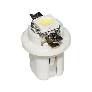 Lâmpada LED Automotiva T5 1W B8.5D Branco Frio