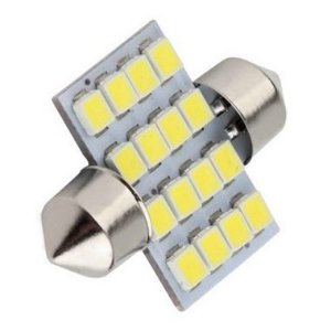 Lâmpada LED Automotiva Torpedo 16 Leds C5w 31mm