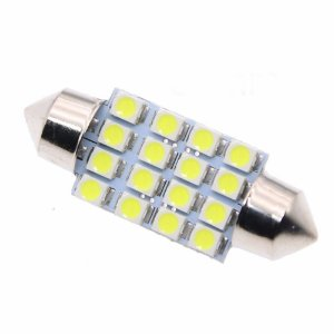 Lâmpada LED Automotiva Torpedo 16 Leds C5w 39mm