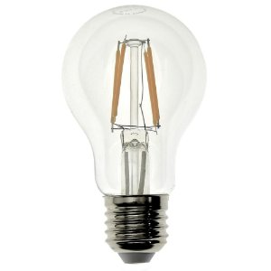 Lâmpada LED Bulbo A60 4W Cristal Branco Quente Filamento | Inmetro