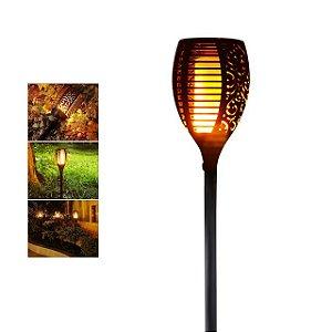 Espeto de Jardim LED Solar 96 LEDs Tocha Redondo
