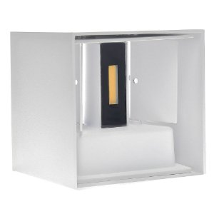 Luminária Arandela LED 6W Branco Quente Direcionável Cubo Branca