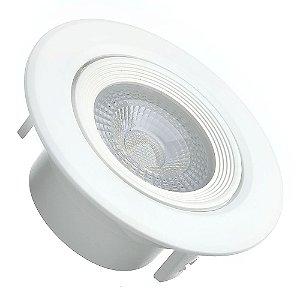 Spot LED SMD 5W Redondo Branco Quente