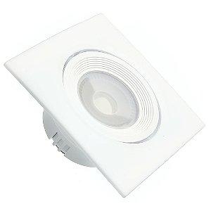 Spot LED SMD 3W Quadrado Branco Quente