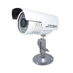 Câmera Segurança de LED Bullet Infravermelho HD 36 LEDs Branca