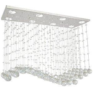 Lustre de Cristal K9 Pendente Retangular 70x50