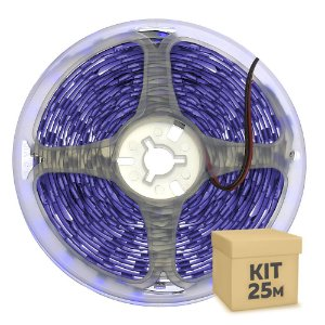 Fita LED Luz Negra Ultravioleta 5050 25 metros com Fonte/Carregador IP30