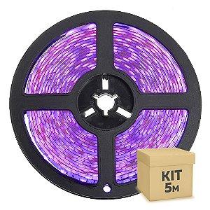 Fita LED Rosa 3528 5 metros com Fonte/Carregador IP65 - À prova d'água - 24W