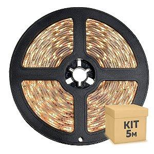 Fita LED Branco Quente 5050 5 metros com Fonte