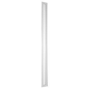 Luminária Plafon 10x120 30w LED Embutir Branco Quente Borda Branca