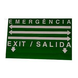 Sinalização Saída de Emergência LED Face Única SLIM Verde 24x18cm