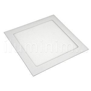 Kit 10 Luminária Plafon 18w LED Embutir Branco Neutro