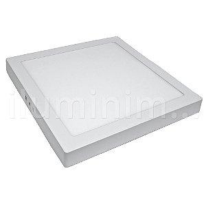 Kit 10 Luminária Plafon 25w LED Sobrepor Branco Neutro