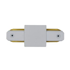 Conector Emenda tipo Reto para Trilho Eletrificado LED Cor Branca