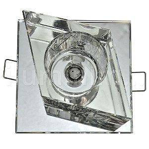 Spot Cristal Led Losango Embutir G4 2w