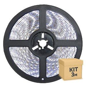 Fita LED Branco Frio 5050 3 metros IP65 com Fonte