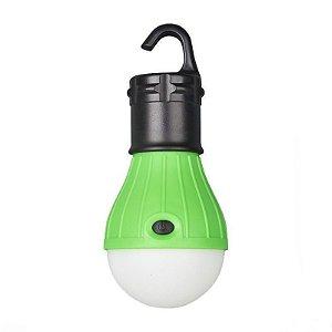 Lampada Led Camping Pesca Lanterna Com Gancho Acampamento Verde