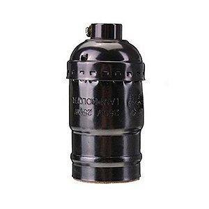 Soquete Bocal Antigo Vintage Retro Bronze Lampada E27 Pearl Black