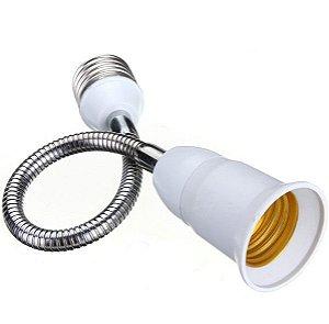 Soquete Extensor Adaptador 29 Cm Flexível - P/ Lâmpada E27