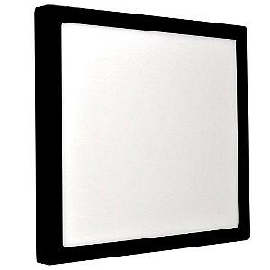 Luminária Plafon 25w LED Sobrepor Branco Frio Preto