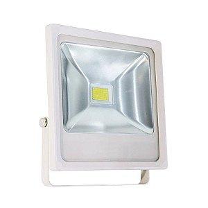 Refletor Holofote LED 30w Branco Frio Branco