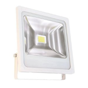 Refletor Holofote LED 50w Branco Frio Branco