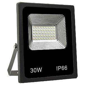 Refletor Holofote MicroLED Slim 30W Branco Quente