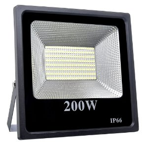 Refletor Holofote MicroLED Slim 200W Branco Quente