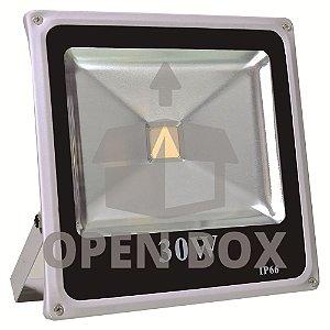 Refletor Holofote LED 30w Branco Quente - Open Box