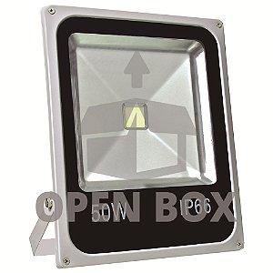 Refletor Holofote LED 50w Branco Frio - Open Box
