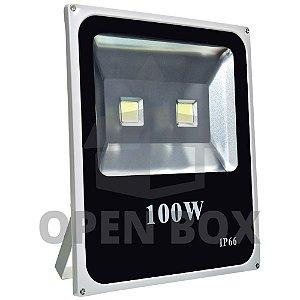Refletor Holofote LED 100w Branco Frio - Open Box
