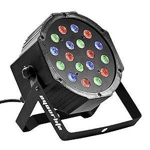 Refletor Holofote LED Par64 RGB Digital 18 Leds para Festa
